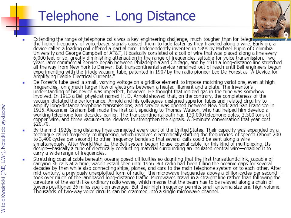 Telephone - Long Distance