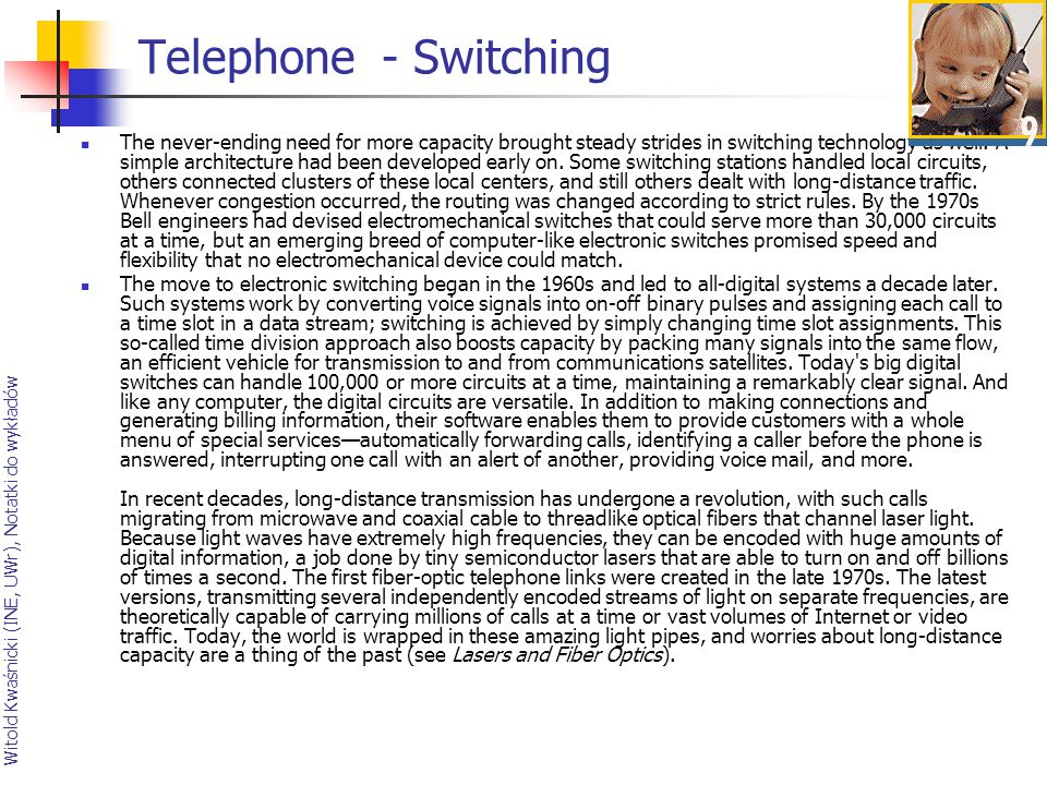 Telephone - Switching