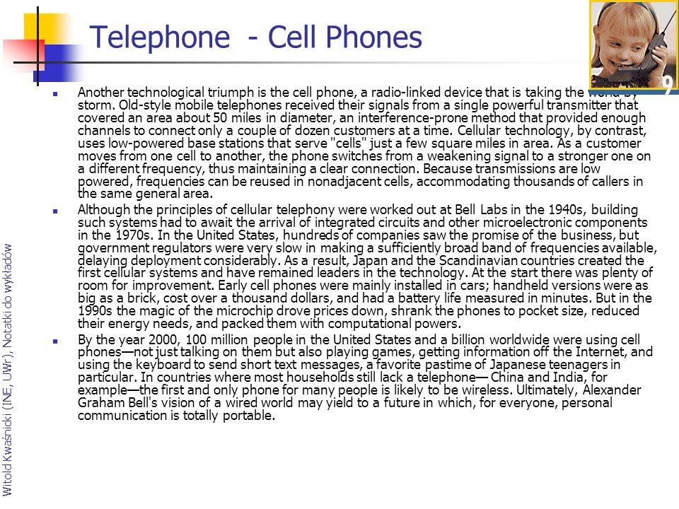 Telephone - Cell Phones