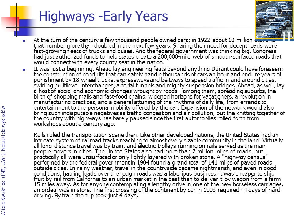 Highways -Early Years