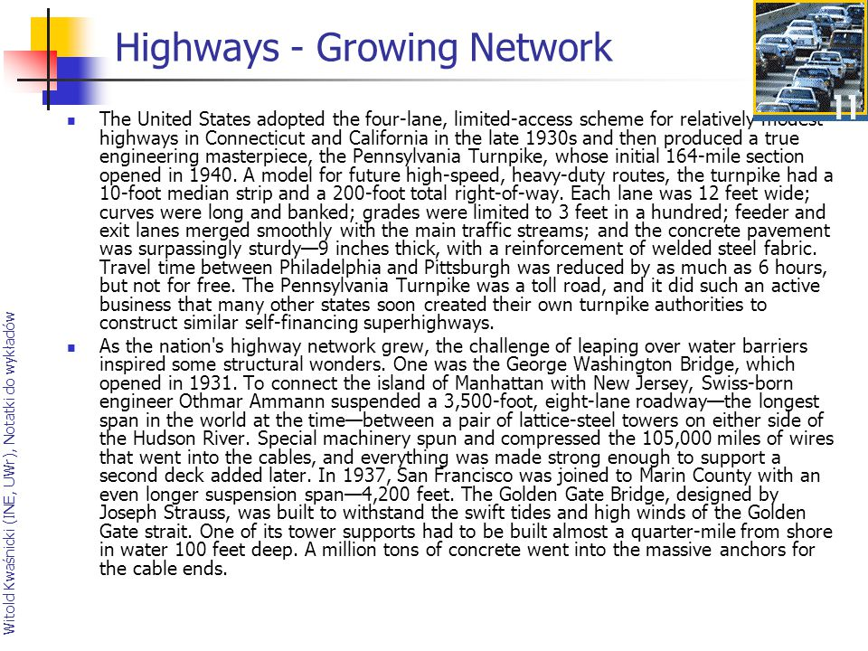 Highways - Growing Network