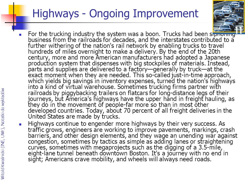Highways - Ongoing Improvement