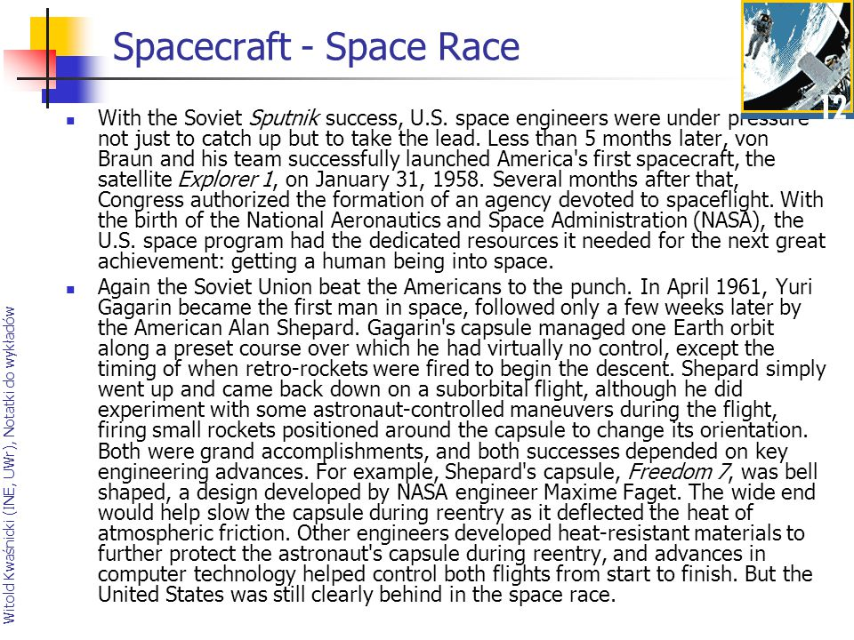 Spacecraft - Space Race