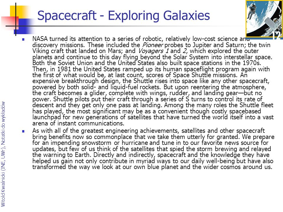 Spacecraft - Exploring Galaxies