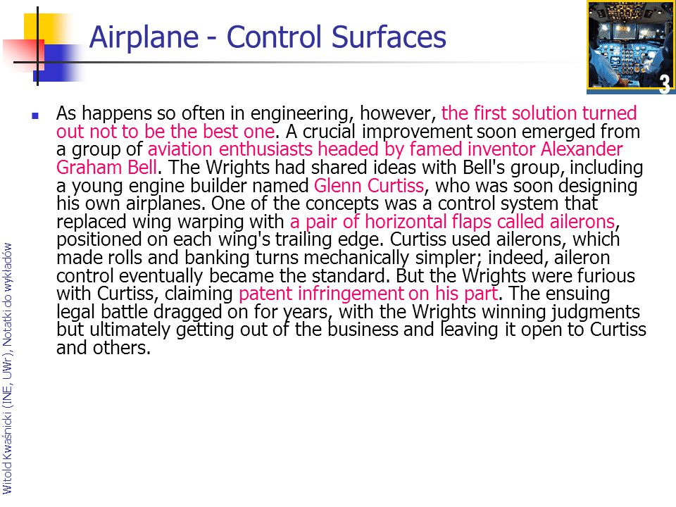 Airplane - Control Surfaces