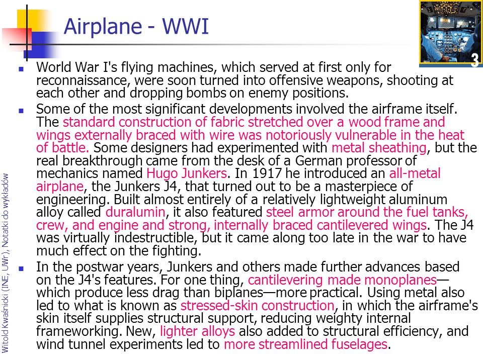 Airplane - WWI