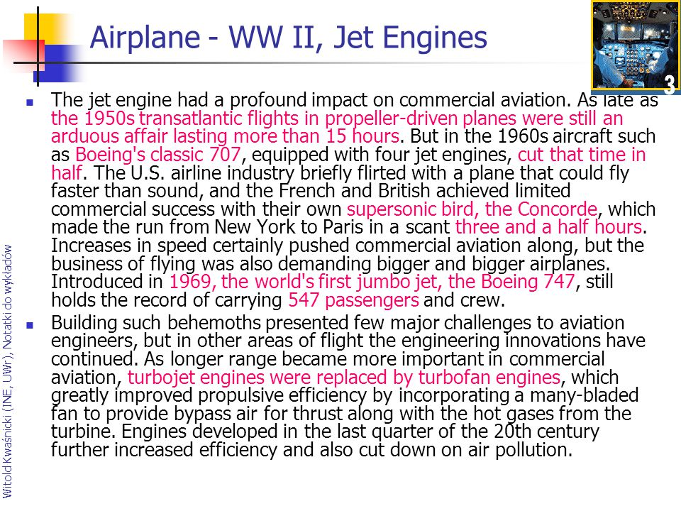 Airplane - WW II, Jet Engines