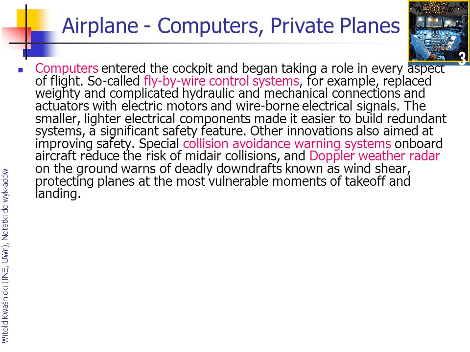 Airplane - Computers, Private Planes