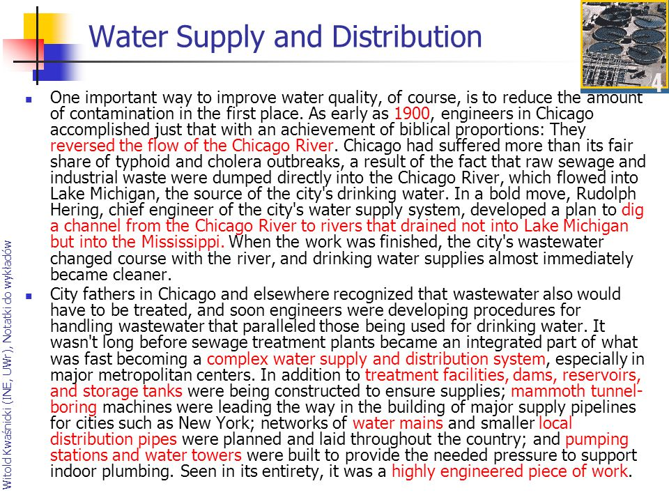 Water Supply and Distribution