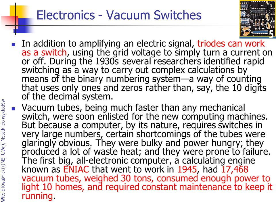 Electronics - Vacuum Switches