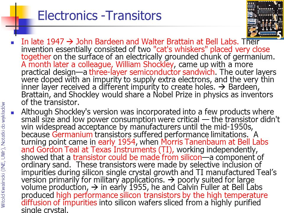 Electronics -Transitors