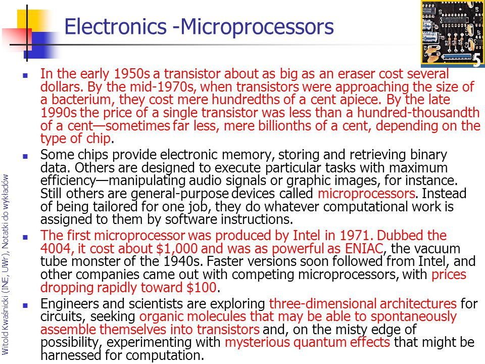 The 20th centurys greatest engineering achievements ppt download 87 electronics microprocessors sciox Gallery