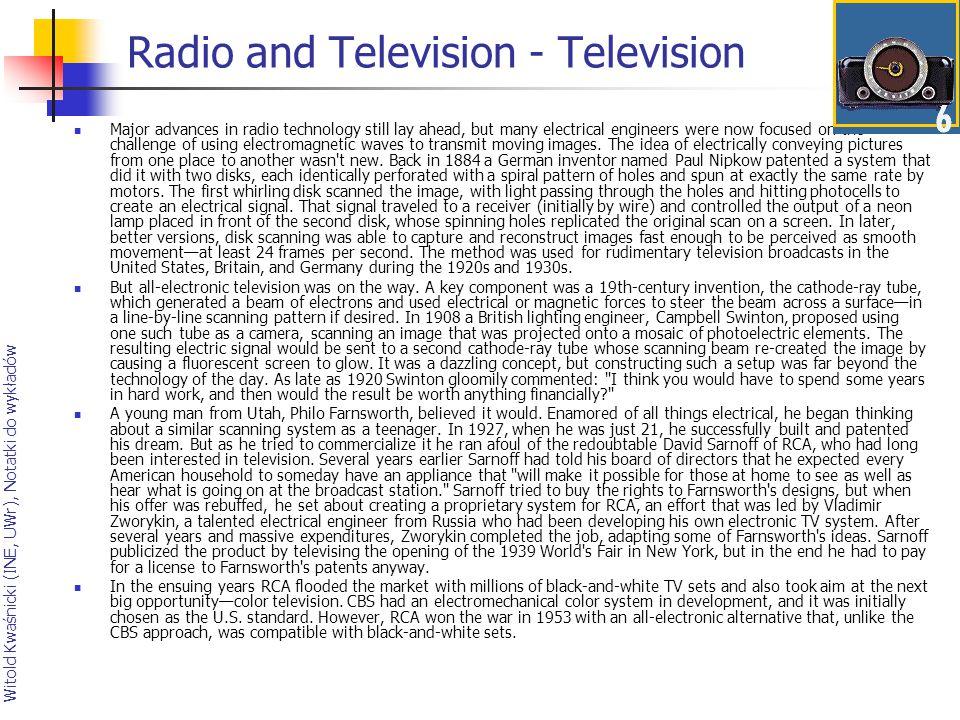 Radio and Television - Television