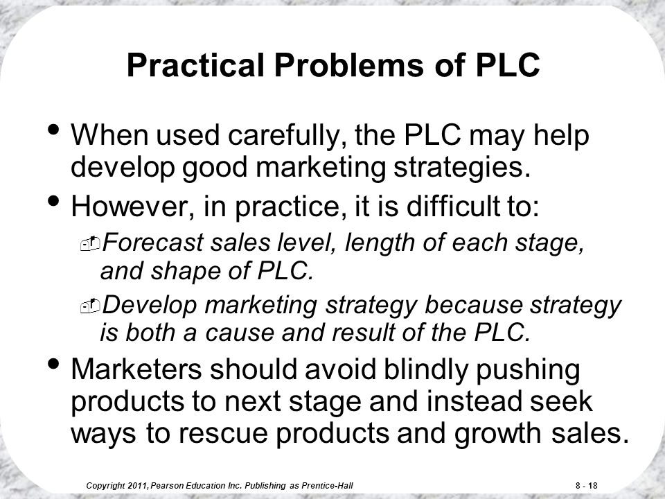 Practical Problems of PLC