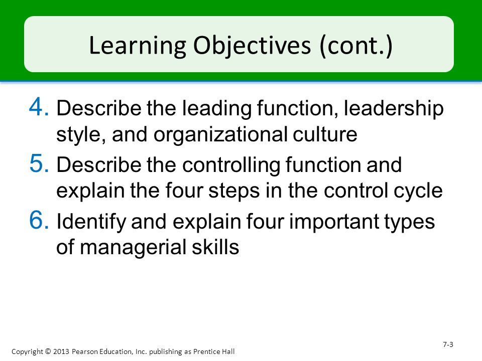 describe the four functions of management