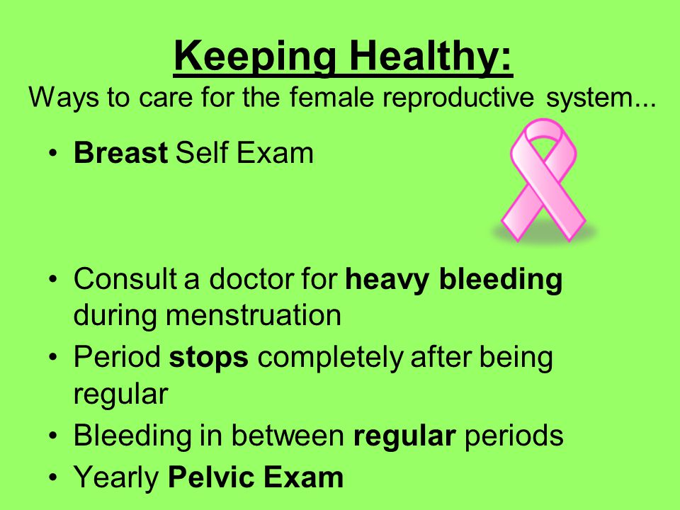 how to keep reproductive system healthy for female