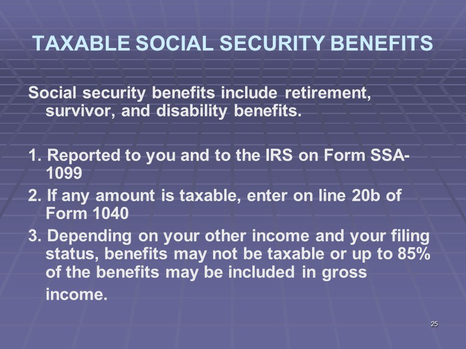 Stock options earned income social security