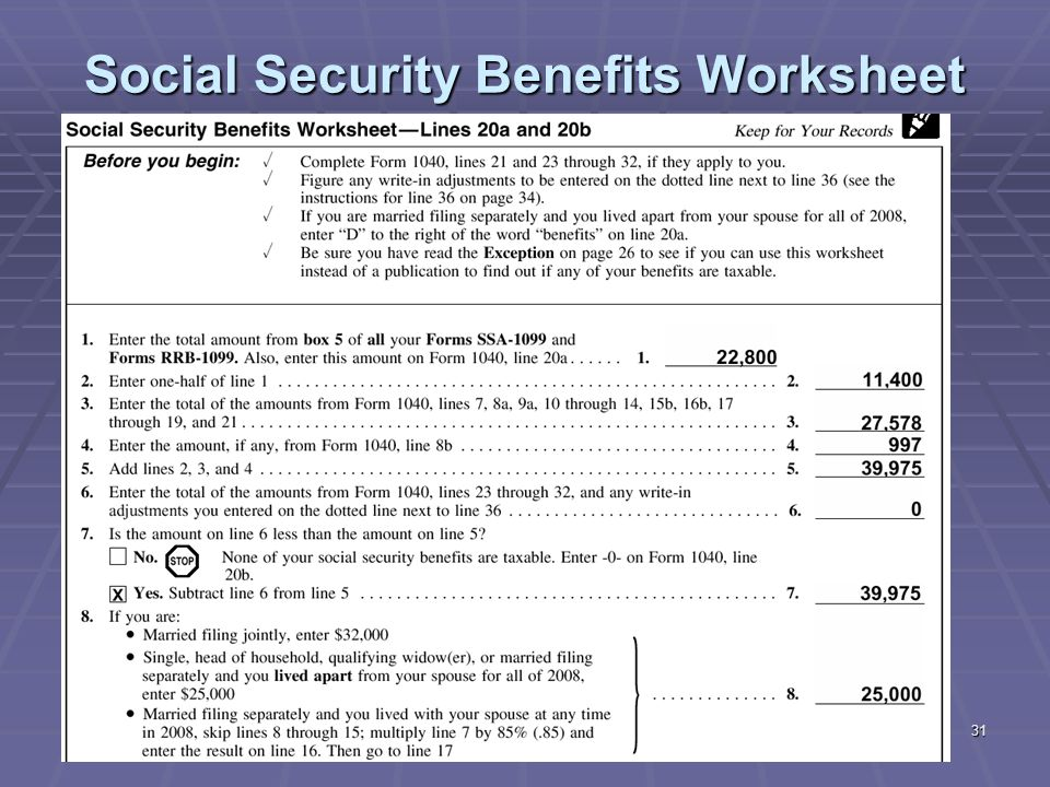 Social Security Benefits Worksheet Line 14b llamadirectory – Social Security Taxable Worksheet