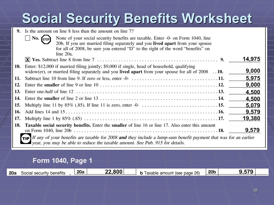 Security Benefits Worksheet 1040a Delibertad – Social Security Taxable Worksheet