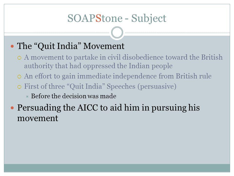 quit india movement in india