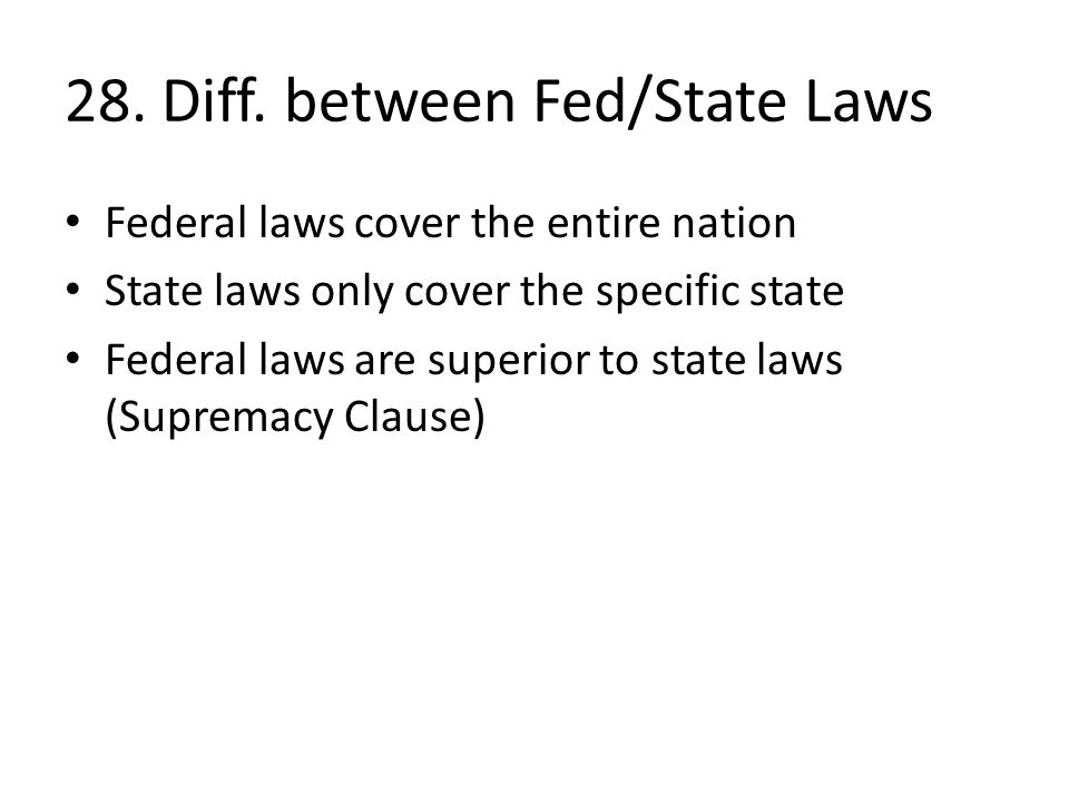 "national supremacy and state rights essay State supremacy vs the supremacy clause you i have introduced a bill for the 2013 legislative session entitled the ""state supremacy national federation."