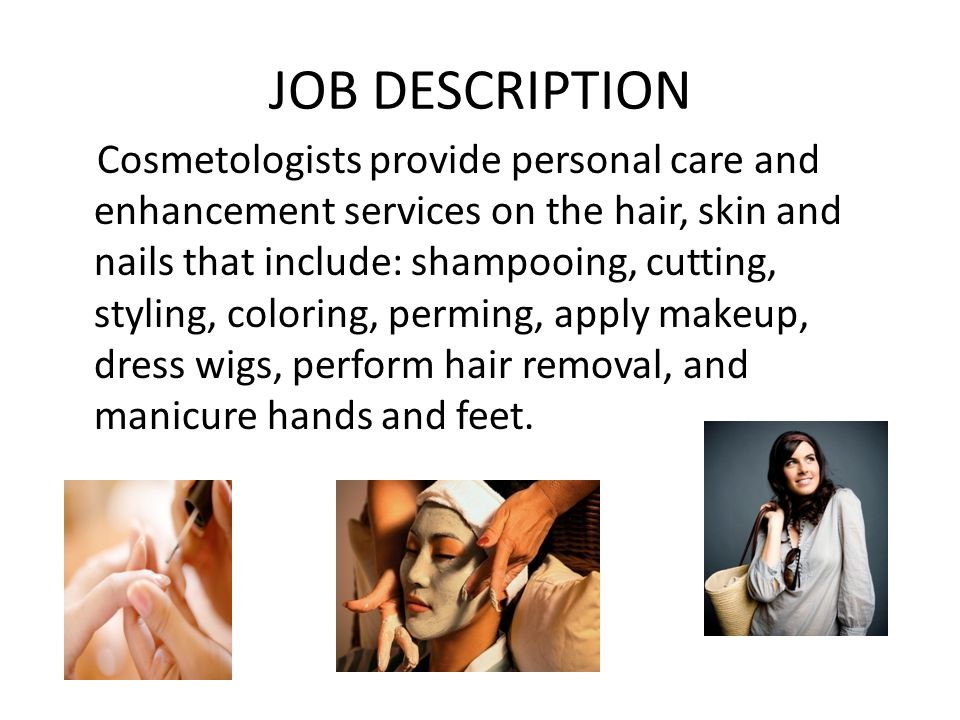 Cosmetologist Description. Business Card Print Template With