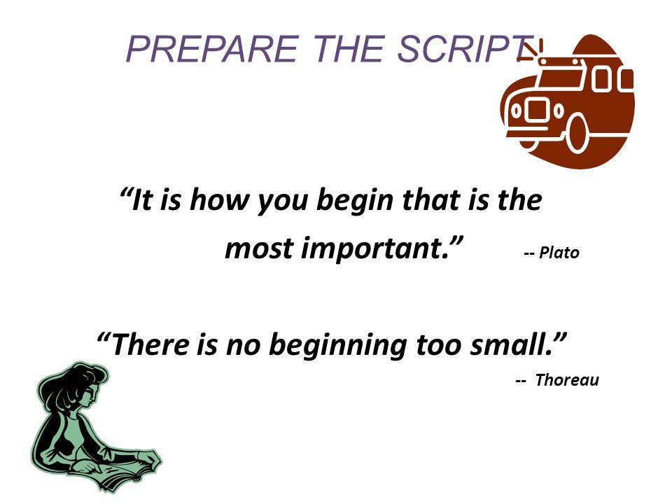 how to prepare a script