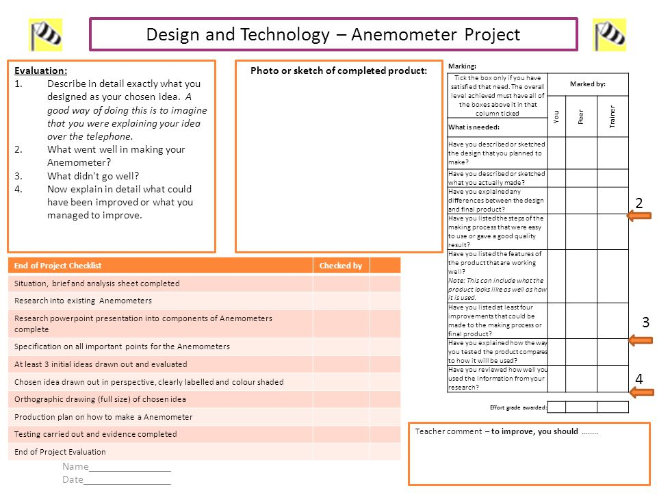 Design And Technology Anemometer Project Ppt Video