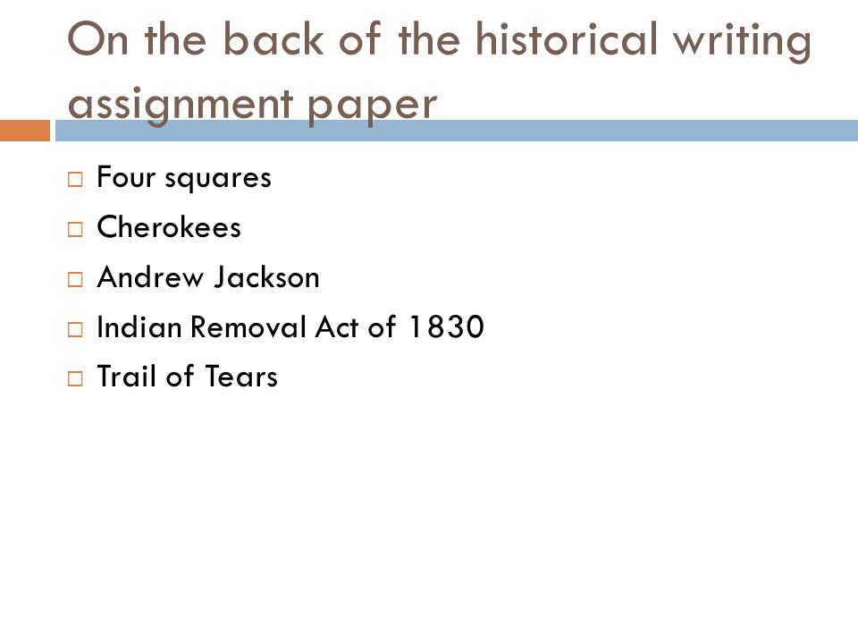 andrew jackson and trail of tears essay Andrew jackson essays - forget about your worries, place your assignment here and receive your professional project in a few days witness the benefits of qualified.