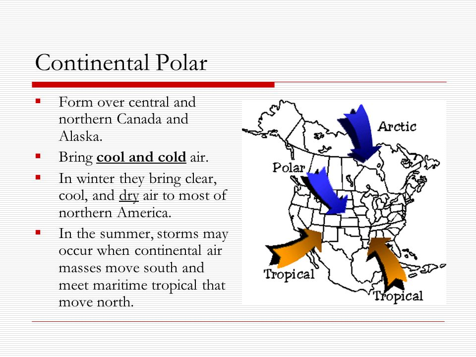 Continental Polar Form over central and northern Canada and Alaska.