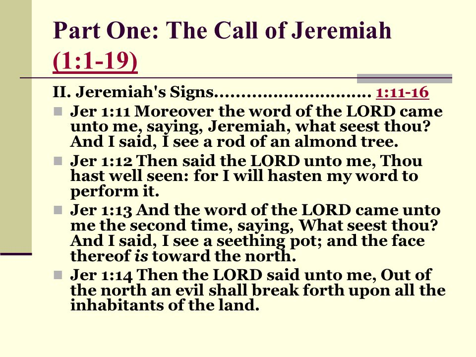 """call of jeremiah Intro: 1 dietrich bonhoeffer, """"the responsible person, seeks to make his or her whole life, a response to the call of god"""" 2 we begin with the call of jeremiah, a man who clearly gave his life to fulfilling the call of god."""