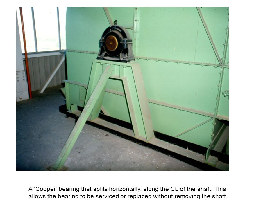 A 'Cooper' bearing that splits horizontally, along the CL of the shaft
