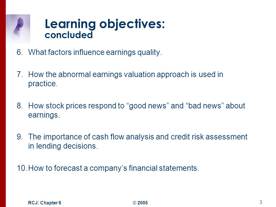 factors that affect quality of earnings And esop on the quality of the reported earnings by management,  factors that affect the firm's financial stability in the long-term such as lack of investors and.