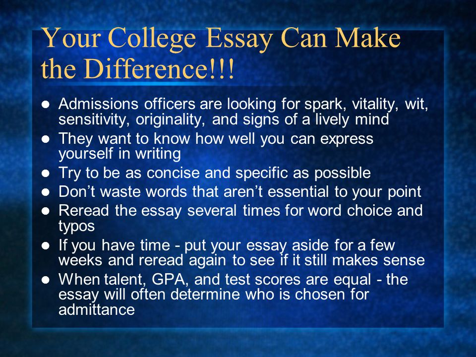 essay on i can make a difference But before he can do a difference around him, he must first make a difference within himself as a scholar of this prestigious university, the university of bohol, i can also make a difference but as i said, in order for me to make a difference in my surroundings, i must first make a difference within me.