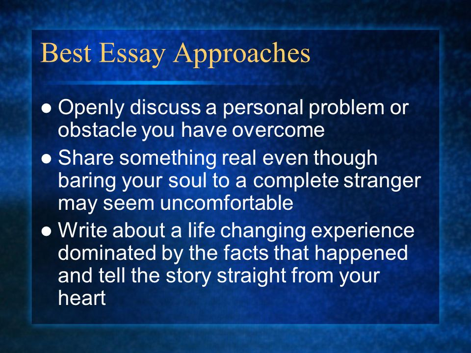 greatest obstacle youve overcome essay Sample essay prompts: uc personal educational opportunity or worked to overcome an educational that talk about any obstacles you've faced and what you've.