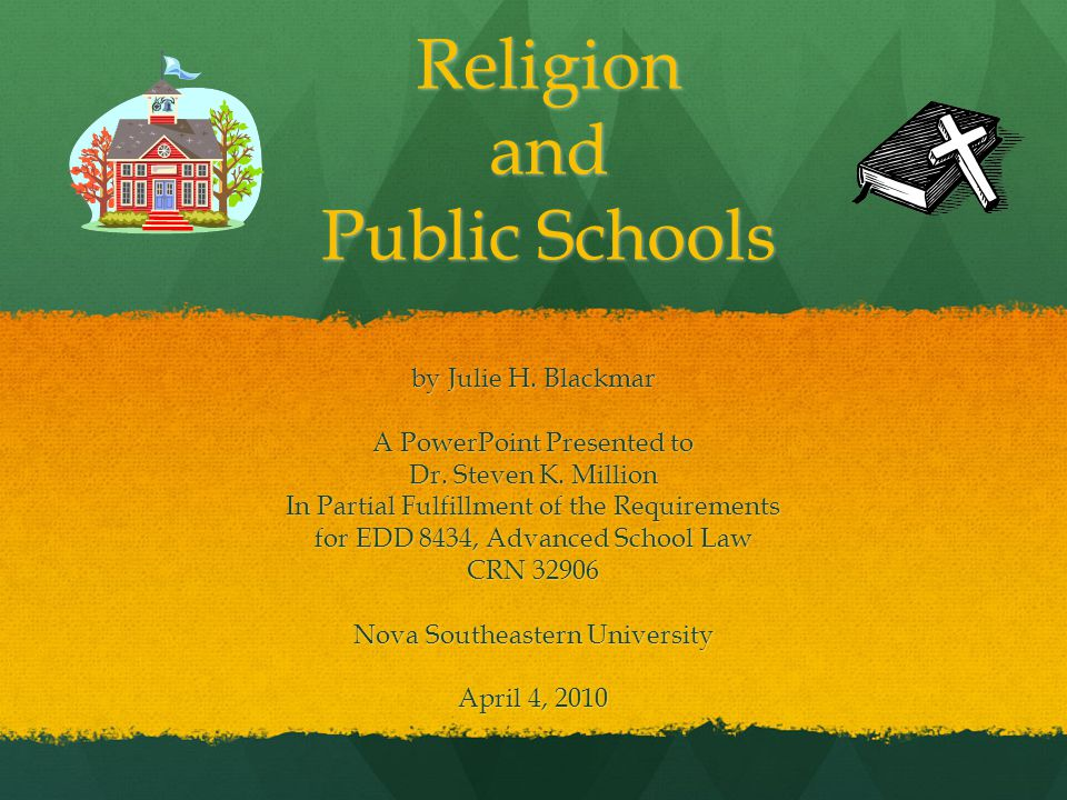 "freedom of religion in public schools Religion in public schools congress shall make no law respecting an establishment of religion or prohibiting the free exercise thereof�"" according to the first amendment of the constitution this idea of freedom of religion has been stated very."