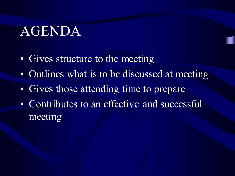 meeting outlines