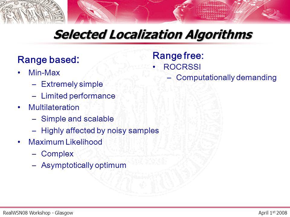 Selected Localization Algorithms