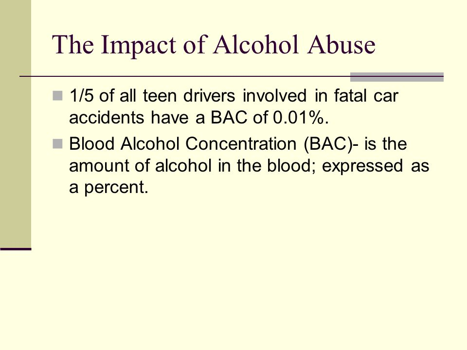 The Impact of Alcohol Abuse