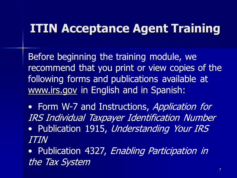 Itin Number Form Antaexpocoaching
