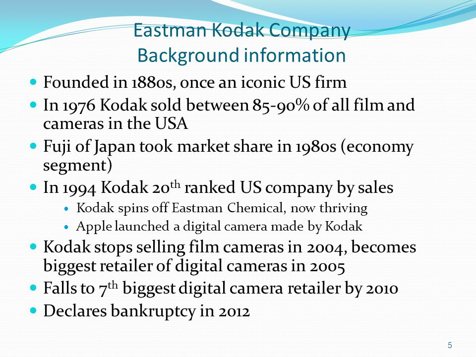 eastman kodak marketing strategy essay Eastman kodak company: funtime eastman kodak company case study essay he proposed a risky deficit-spending strategy to.