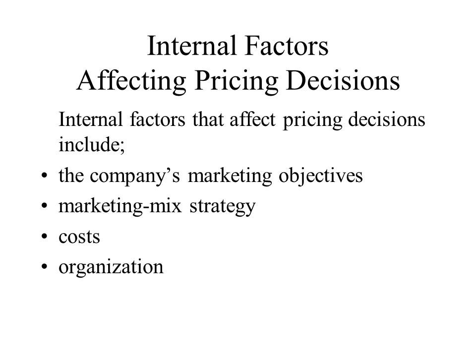 the factors affecting marketing strategy While some of the factors are in the control of the business, most of these   about every aspect of the environment to create a foolproof plan.