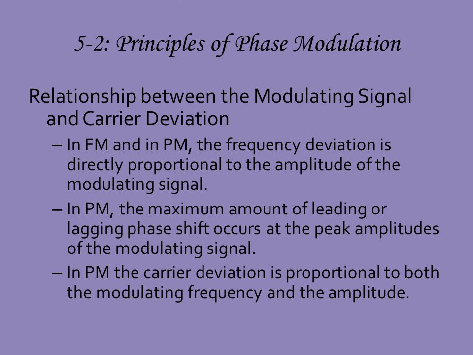 phase modulation and frequency relationship tips