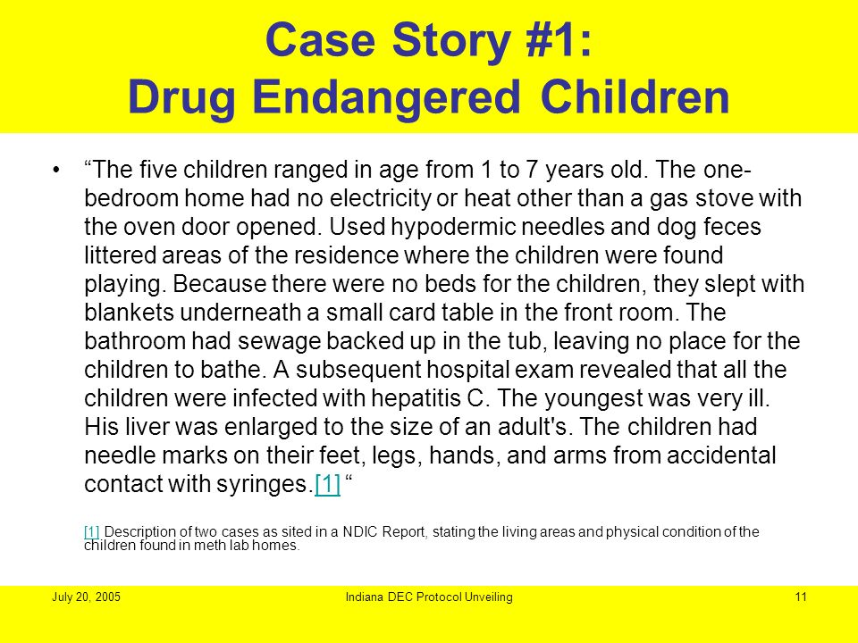 Case Story #1: Drug Endangered Children