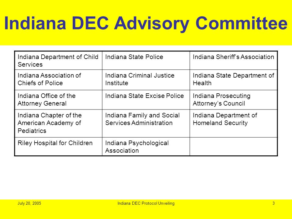 Indiana DEC Advisory Committee