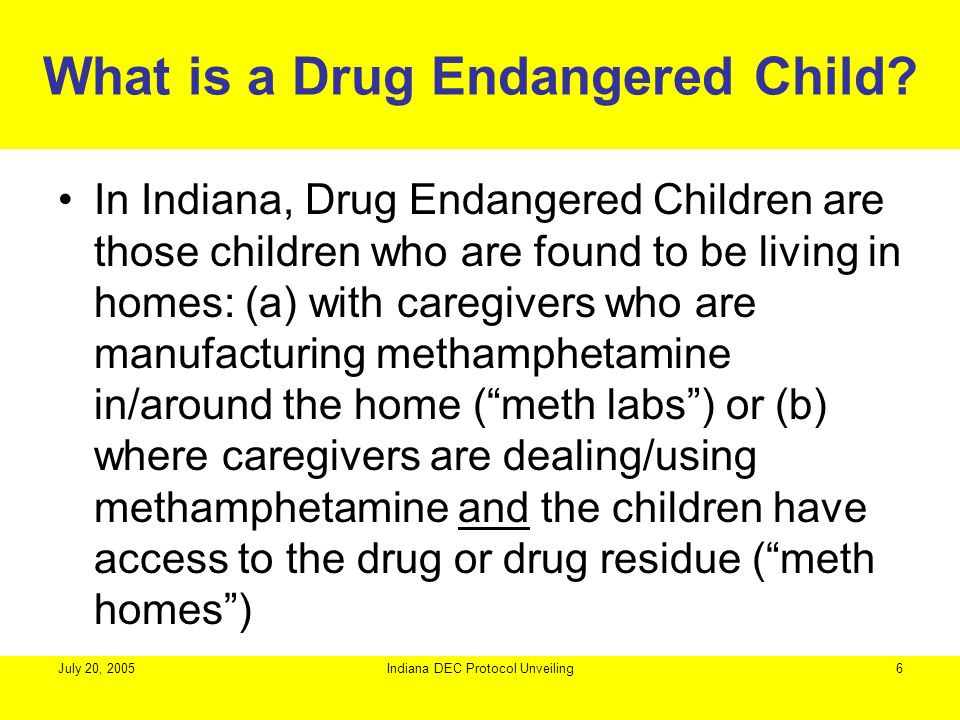 What is a Drug Endangered Child