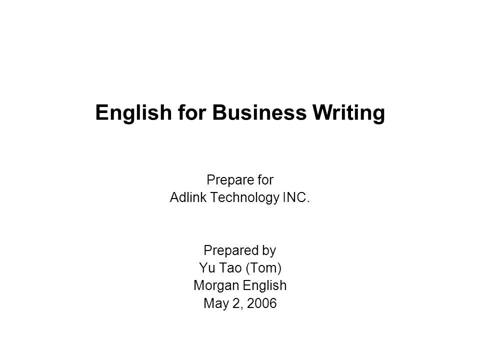 Effective Business Writing Course for Non-Native Writers