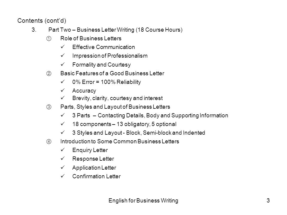 English For Business Writing - Ppt Download