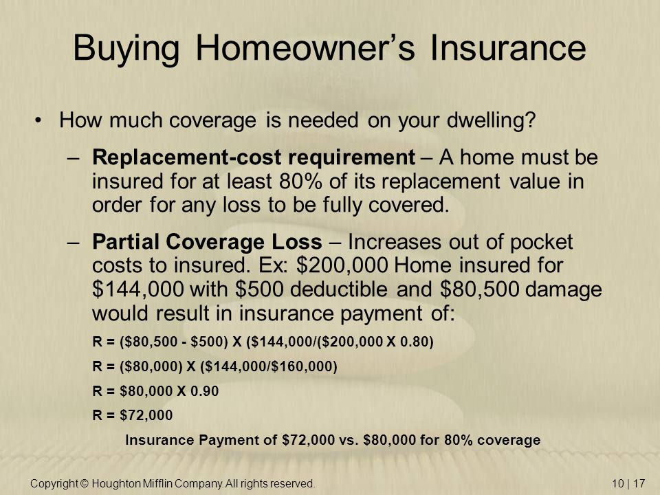 Homeowner S Property Insurance Does Not Provide Protection On The