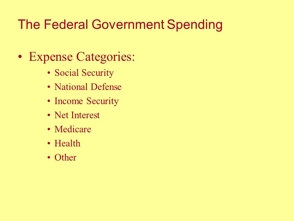 The Federal Government Spending